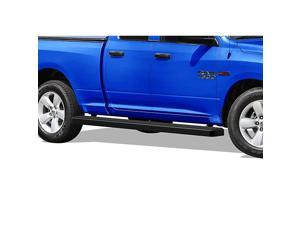 Wheel to Wheel Running Boards 5 inches Compatible with Ram 1500 2009-2018 Quad Cab 6.5ft Bed (Drilling Required for Some Models) (Nerf Bars Side Steps Side Bars)