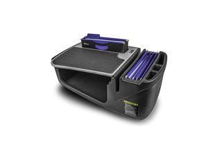 AUE00639 Efficiency FileMaster Car Desk Grey Finish with Built-in 200 Watt Power Inverter