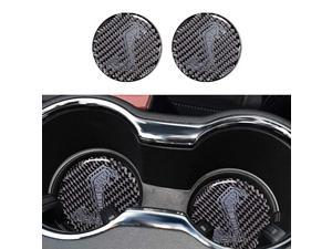Carbon Fiber Shelby GT Cup Holder Mat Coaster Sticker Cover Compatible for Ford Mustang