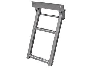 RS2SS Stainless Steel 2-Rung Retractable Truck Step