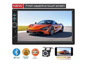 Din Car StereoTouchScreen Car MP543 Player with RearView CameraFM Radio Receiver Bluetooth Audio and Calling Mirror LinkSupport Steering Wheel Remote ControlSupport Android amp iPhone