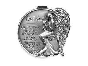 15687 Grandson Guardian Angel Visor Clip Accent, 2-1/2-Inch