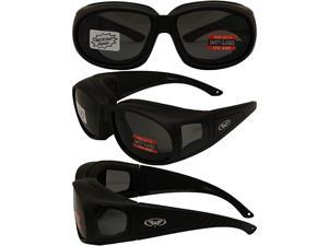 Outfitter Padded Fit-Over Motorcycle Safety Sunglasses