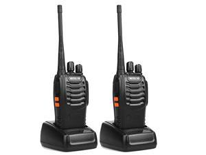 H-777 Two Way Radio Rechargeable 16CH 2 Way Radio Portable Outdoor Long Range Walkie Talkies with LED Flashlight Radios(Black, 2 Pack)