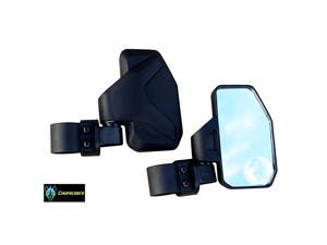 """Rear View/Side Mirror for UTV with SPOT Mirror - Right & Left Pair for 1.6"""" - 2"""" Roll Cage RZR Can Am Yamaha Honda Arctic Cat"""