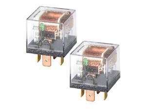 DC 12V 60A 1NO SPST 4 Pin Relay Car Heavy Duty Split Charge with Waterproof Transparent Case,Pack of 2