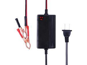 to 14.8V Automatic Lead Acid Battery Charger/Maintainer, 1.2A Trickle Charger for car, Truck, Boat, Motorcycle, RV, Lawn Tractor
