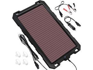 3.3W-Solar-Battery-Trickle-Charger-Maintainer -12V Portable Waterproof Solar Panel Trickle Charging Kit for Car, Automotive, Motorcycle, Boat, Marine, RV, Trailer, Powersports, Snowmobile, etc.