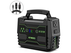 Portable Power Station 155Wh Lithium Backup Battery Pack 110V 100W Solar Generator Solar Panel Optional with AC Outlet USB DC Supply for Outdoors Camping Travel Fishing Hunting Emergency