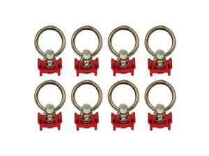 Single S Track Stud Ring Detachable Tie-Down Hook Ring For Truck/Utility/Enclosed Trailers, Rv, Suv – Quick Disconnect – Rust-Free Aluminum – 4000 Lbs. Straight Pull Strength