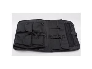 LA03- Tour Pack Lid Organizer Soft Black Bag Compatible with Harley Davidson Touring