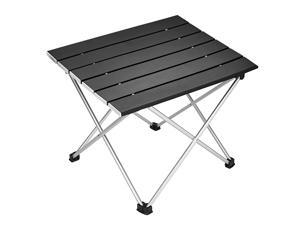 Camping Table,Aluminum Folding Table Ultralight Camp Table with Carry Bag Collapsible Table Top for Picnic,Cooking,Camping,Beach,Festival