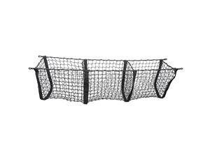 3 Pocket Cargo Net Trunk Organizer 45-by-16-Inch Stretchable Truck Bed Storage Net Fit for Toyota Tacoma Tundra 2012 2013 2014 2015 2016 2017 2018 2019 2020 Accessories