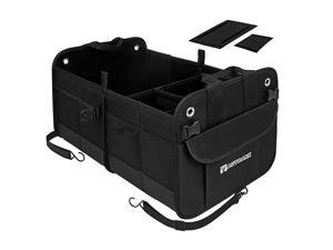 Multipurpose Car SUV Trunk Organizer,Durable Collapsible Adjustable Compartments Cargo Storage,AK-042