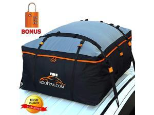 Car Roof Bag & Rooftop Cargo Carrier. 19 Cubic Feet. 100% Waterproof Excellent Military Quality Car Top Carrier. Heavy Duty RoofBag. Fits All Vehicle With/Without Rack. 4+2 Door Hooks Included