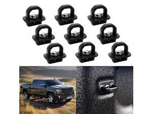 Tie Down Anchor Truck Bed Tie Downs Side Wall Hook Rings for 2007-2018 Chevy Silverdo GMC Sierra 2015-2018 Chevrolet Colorado Pickup DZ97903 (9 Pack)