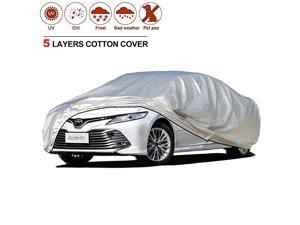 Car Cover for Automobiles All Weather Waterproof, Outdoor Sun Rain Snow uv Protection, Universal Fit Sedan Coupe Convertible Station Wagon 191 to 208 Inch