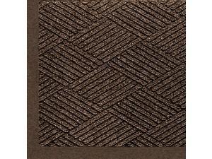 "2297 Waterhog Eco Premier Fashion PET Polyester Fiber Indoor/Outdoor Floor Mat, SBR Rubber Backing, 5' Length x 3' Width, 3/8"" Thick, Chestnut Brown"