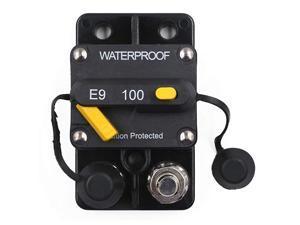 Hi-Amp Waterproof 100A CircuiBreaker with Manual Reset, 12V- 48VDC (Panel Mount-100A)