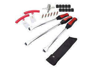 Tire Spoons Lever Motorcycle Dirt Bike Lawn Mower Tire Changing Tools with Bag 1x14.5 inch 2x11 inch Tire Irons 2X Rim Protectors 1x Valve Stems Set TR412 TR413