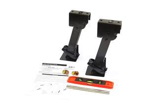 2 Telescoping Folding Trailer Stabilizer Jacks Swing Down 1000 Lbs Support Capacity Each for RV Trailer Camper Includes Handle and Mounting Screws