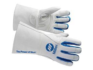 263332 Welding Gloves, 3-D, M, 12In, White/Blue, PR