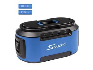 Power Station 222Wh 60000mAH Generator with 110V AC Outlets 4 DC Ports USB Quick Charger 30 Rechargeable Power Inverter for CPAP Emergence Hurricane Storm Outage Home Camping