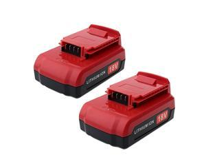 2 Pack 18V Lithium Battery PC18BLX Replacement for Porter Cable 18V Battery PC18BL PC18BLEX PC18B PC18B2 PCC489N PCXMVC 18Volt Cordless Power Tools