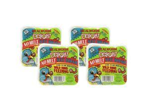 Products 4 Pack of Mealworm Delight No Melt Suet Dough 1175 Ounces each