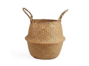 Woven Seagrass Belly Basket for Storage Plant Pot Basket and Laundry Picnic and Grocery Basket Large Original