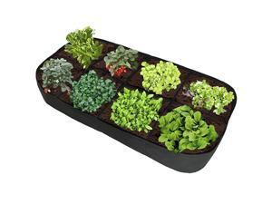 Fabric Raised Garden Bed 135 Gallon 8 Holes Rectangle Breathable Planting Container Grow Bag Planter Pot for Plants Flowers and Vegetables