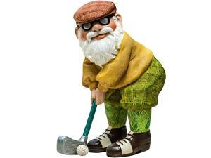 amp Flower The Great Golfing Gnome 9quot The Hand Painted Garden Gnome Designed