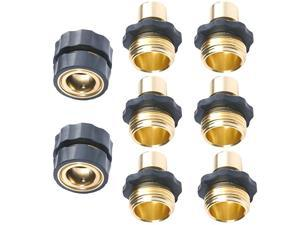 Pressure Washer Garden Hose Quick Connect Set 6 Male Connects + 2 Female Connects
