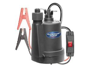 91012 12 Volt Utility Pump with 20Foot Cord Black