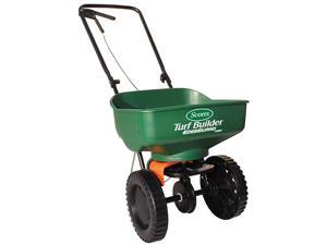 Turf Builder EdgeGuard Mini Broadcast Spreader Spreads Grass Seed Fertilizer and Salt Holds up to 5000 sq ft of Grass Seed or Fertilizer Products