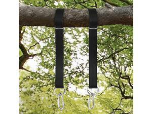 Tree Swing Straps 5ft Extra Long Hammock Straps Length Adjustable 2200lbs Load Porch Swing Hanging Kits with Heavy Duty Carabiners for All Type of Swings Drawstring Pouch