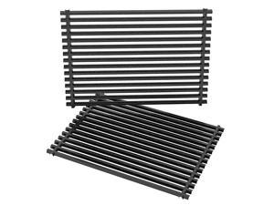 Replacement BBQ PorcelainEnameled Grill Cooking Grates for Weber Genesis II 300 and Genesis II LX 300 Series Gas Grills Replacement Parts for Weber 66095 Set of 2