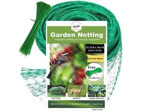 Best Bird Netting Protect Plants and Fruit Trees from Birds and Wildlife 1312Ft x 164Ft Bird Netting with 50 Pcs Nylon Cable Ties Reusable Instantly Small Size