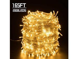 165FT 2000LEDs Christmas Decoration Lights Waterproof Outdoor amp Indoor LED String Lights 8 Modes Holiday Fairy Lights UL588 Approved for Home Bedroom Garden Wedding Party Tree Warm White