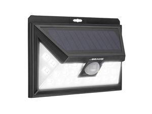 Solar Wedge Plus 24 LED Security Outdoor Motion Sensor Wall Light 1 pack Black