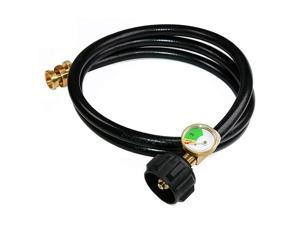 5 FT Propane Hose Adapter with Propane Tank Gauge for Weber Q1200 1000 Propane Grill 1 lb to 20 lb Propane Converter Hose for Propane Stove Tabletop Grill and More 1lb Portable Appliance