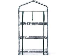 Transparent PVC 3 Tier Mini Greenhouse Replacement Cover Waterproof Clear Tarp fit for 27 in L x 19 in W x 47 in H Green House