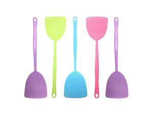 Fly Swatter 5 Pack Manual Pest Control Colorful Plastic with 175 Durable Long Handle House Wife Helper 5X