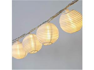 85Ft Mini Lantern String Lights 10 White Nylon Hanging Lanterns with Warm White Bulbs Included Plug in Connectable up to 25 Strands White Lights String for Bedroom Patio Backyard