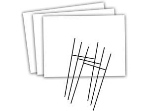 Blank Yard Sign and HFrame Ground Stake Sign Holder Set White 18 x 24 Inches 3Pack Value Pack 5514
