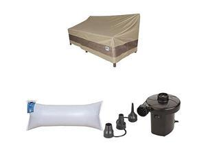 Covers Elegant Patio Loveseat Cover 62Inch with Dome Airbag 60quotL x 24quotW and Dome Airbags Electric Air Pump