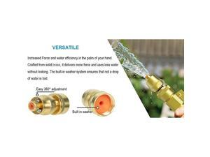Upgraded 50 Feet Expandable Garden Hose Strongest Expanding 3750D HoseSuper Flexible Water Hose with 34quot Solid Brass Nozzle and Durable 4Layers Latex