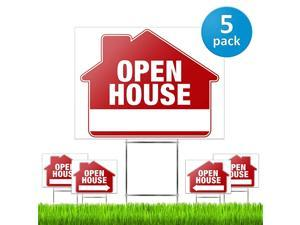 House Signs for Real Estate 5 Pack PRO DoubleSided Realtor Signs with Yard Stakes House Sign Kit for Private Sellers amp Real Estate Agents Large 18quot x 24quot Size