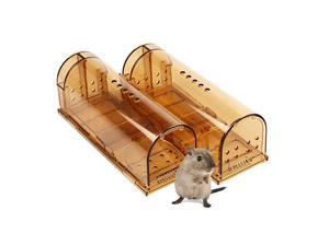 Humane Smart Mouse Trap That Work No Kill Mice Catcher Indoor Outdoor Small Mice Traps Live Catch and Release Easy to Set and Reusable Safe for People and Pets 2 Pack