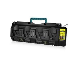 DCB104 Replacement Charger for Dewalt 12VDewalt 20V Max 4Port LiIon Fast Charger DCB102 DCB102BP DCB104 DCB118 DCB115 DCB107 DCB2052 DCB204 DCB127 DCB609 Dewalt 20V Lithium Battery